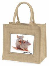 Silver Rats 'Soulmates' Sentiment Large Natural Jute Shopping Bag Ch, SOUL-88BLN
