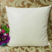 Pillow Leather Cushion Cover Decor Set Genuine Soft Lambskin White All Sizes 29