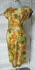 60s Vtg Pat Nichols Wiggle Dress Size 18, Fall Abstract Floral