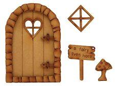 Wooden Fairy Door and Window Heart Fairy Door Fairy Sign Fairy Door Accessories