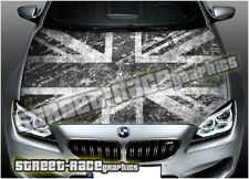 708 Car bonnet hood wrap printed graphic AIR RELEASE vinyl Union Jack UK flag