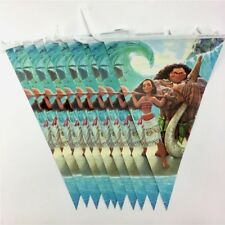 2.5 m Moana Paper Birthday Banner Flag Decoration Party Supplies.