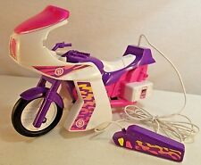 Vintage Barbie Motorcycle/Scooter w/Tethered Remote Control 1986 Mattel Arco