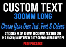 Custom Sticker Decal 300mm Vinyl Made Cut Lettering Car Word Personalised Text