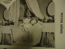 Stereoview Stereoscope Card Young Woman Sleep on Day Bed Risque Reprint 1978
