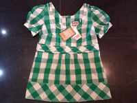 NWT Juicy Couture New & Genuine Cotton/Silk Empire Blouse Size Small US 4 UK 8