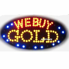 """WE BUY GOLD Flashing & Animated REAL LED OPEN SIGN ON/OFF SWITCH 19""""x10"""""""