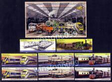 2010 Malaysia KTM Railway Locomotive Train (4v Set + 5v Booklet stamps + MS) MNH