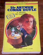 CONAN DOYLE IL SEGNO DEI QUATTRO Classici del Giallo 1°ediz. MONDADORI 1987