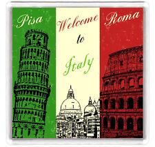 WELCOME TO ITALY FRIDGE MAGNET SOUVENIR IMAN NEVERA