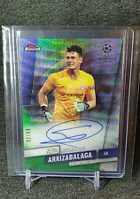 2019-20 Topps Finest Champions League Kepa Green Wave On-Card Auto 92/99 Chelsea