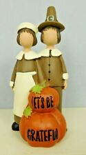 Let's Be Grateful on pumpkins with Pilgrim Couple - New by Blossom Bucket #12424