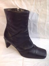 Hush Puppies Black Ankle Leather Boots Size 7