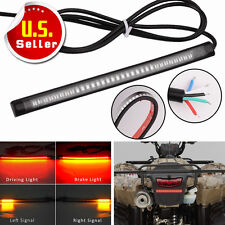 "8"" Universal Motorcycle Flexible Light Strip Tail Brake Stop Turn Signal 48 LED"