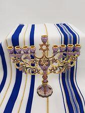 Enamel Hanukkah Menorah 9 branches Hanukkah with star of david wedding gift