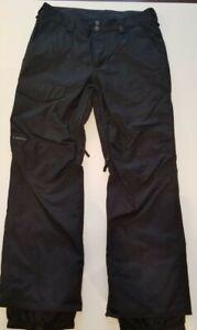 Burton The White Collection DryRide Ski Pants Size L Black
