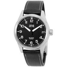 Oris Automatic Black Dial Black Leather Strap Men's Watch 75176974164LS