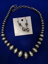Navajo Pearl Necklace with Earrings