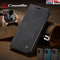 For Samsung S20 Ultra + Plus Magnetic Leather Flip Card Wallet Stand Case Cover