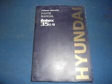 HYUNDAI ROBEX 35Z-9 EXCAVATOR PARTS BOOK MANUAL