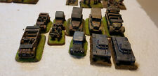 Flames Of War 15mm WW2 Painted German vehicles 10 assorted