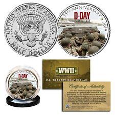 World War II - D-DAY INVASION 75th Anniversary 1944 - 2019 JFK Half Dollar Coin