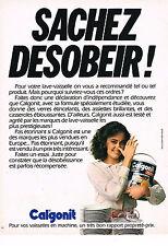 PUBLICITE ADVERTISING 064  1980  CALGONIT   sel  pour lave vaisselle