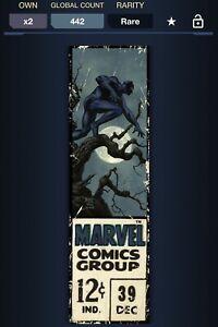 Marvel Topps Collect Digital Corner Box Black Panther 504cc2019 Series 1 Wave 1
