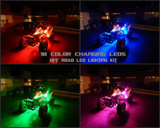 18 Color Led Wireless Remote Joyner USA ATV UTV Quad 4 Wheeler 8pc Led Light Kit