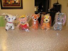 Lot of 5 Walt Disney Productions Plush Stuffed Animal New Vintage 6