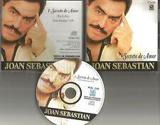 JOAN SEBASTIAN Secreto de amor BALADA PROMO Radio DJ CD single 2000 MINT MEXICO