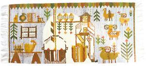 A Polish folk art wall hanging / rug Jadwiga 1970's New old stock
