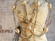 HM622...Necklace with Pearls & Silver Plated Chain - FREE UK P&P