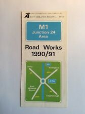 LEAFLET - The Dept of Transport - M1 Junction 24 Area Road Works 1990/91
