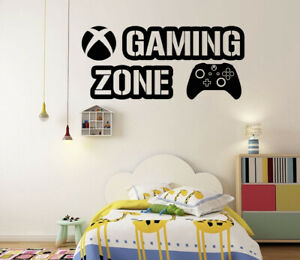 Gaming Zone Wall Stickers Xbox One Controller Gamer Vinyl Decal Kids Bedroom GB5