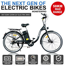 Black eBike Mens Woman Tour Bike 250 Watt 36V Electric City Bike Bicycle Ebike