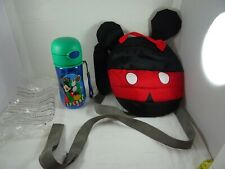 Disney Mickey Mouse Toddlers Safety Harness Backpack & Mickey Sippy Bottle
