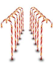 29 Inch Christmas Candy Cane Pathway Markers Set of 12