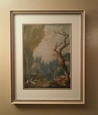 A GAME OF HORSE AND RIDER By Jean-Honore Fragonard Large Framed French Wall Art