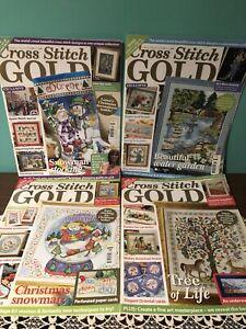 lot of 4 cross-stitch magazines *Cross Stitch Gold* issues 16,18,20,21