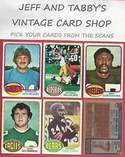 1976 TOPPS FOOTBALL SEE SCANS # 1 TO # 172