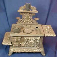 Vintage Cast Iron Eagle Miniature Toy Stove Salesman Sample