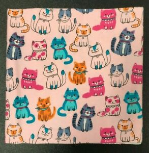 Handmade Cotton Flannel Baby Blanket - Snuggly Swaddler - Sitting Pretty Cats