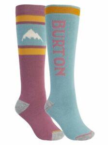 Burton Weekend Midweight 2-Pack Snowboard Socks - Women's - M/L / Rose Brown