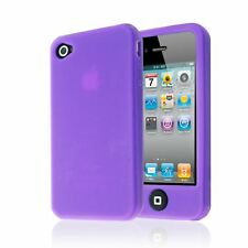 SOFT PLAIN SILICONE BACK GUARD CASE COVER WITH BIG BUTTON FOR IPHONE 4 4S