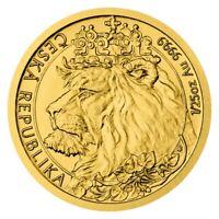 Gold Tschechischer Löwe 1/25 oz | 2021 Goldmünze 9999 Czech Bohemian Lion