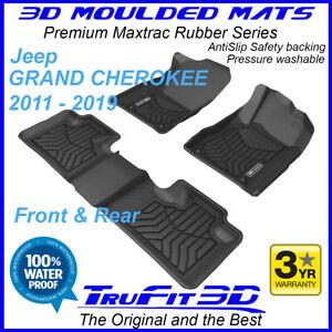 Fits Jeep Grand Cherokee WK2 2011 - 2020 3D Maxtrac Black Rubber Floor Mats F&R