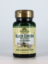 Black Cohosh 80mg Extract With Chasteberry Windmill Support Women Hormon 60 Cap
