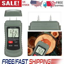 Digital Lcd Humidity Wood Moisture Meter Tester Firewood Electrode Detector P2l9