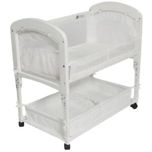 Arm's Reach Cambria Baby Co-Sleeper Bedside Bassinet White NEW